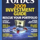 "FORBES MAGAZINE 12/8/08 ""2009 Investment Guide"" issue"