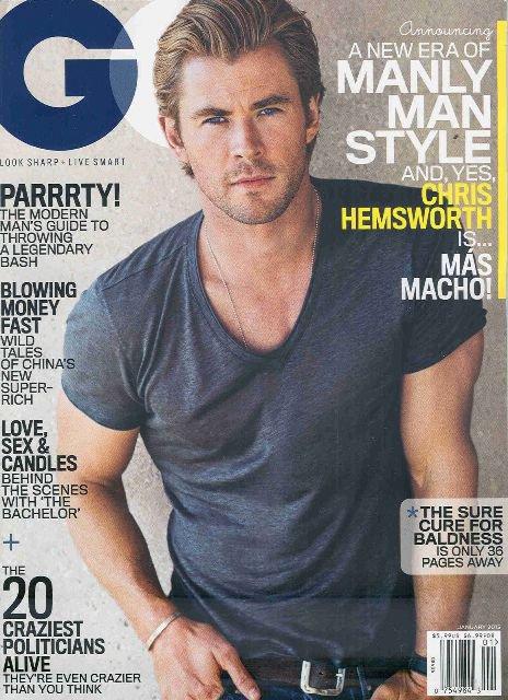 GQ Magazine-Chris Hemsworth Cover 01/2015