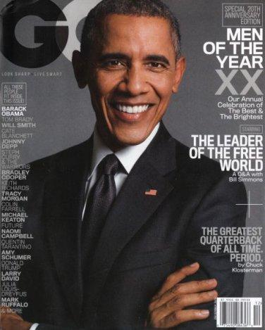 GQ Magazine - Barack Obama Cover 12/2015