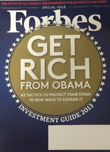FORBES MAGAZINE 12/10/12 Investment Guide issue