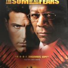 The Sum of All Fears DvD Widescreen - Ben Affleck and Morgan Freeman