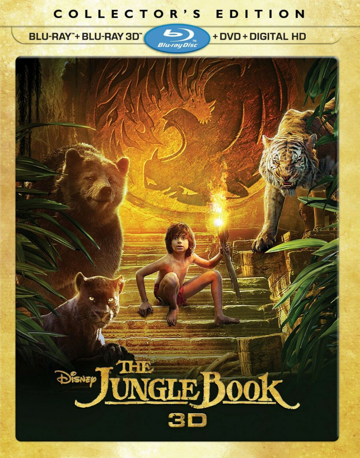 The Jungle Book (3D Blu-ray/Blu-ray/DVD/Digital HD) Collector�s Edition + Slipcover