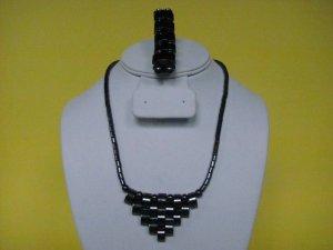 Magnetic Hematite Necklace Bracelet