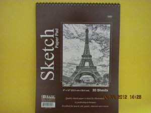New Sketch Book Pad 30 Sheet 9''x12'' - White Paper Craft