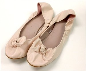 Pink Casual Ballet Flat Slip-On Shoes - NY & CO - Size 6