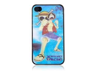 Luffy Crystal Leather TPU iPhone 4 Open-face Case
