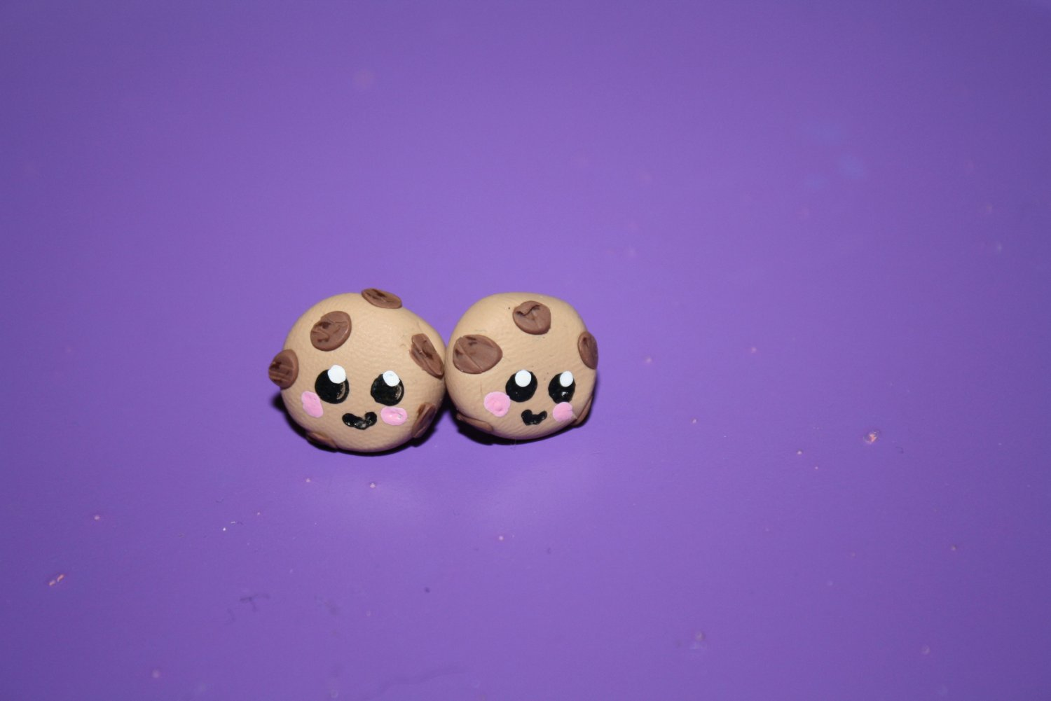 Chocolate Chip Earring Studs
