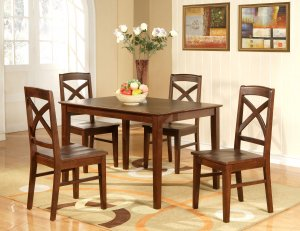 Lisbon 5 Pc Rectangular Dinette Kitchen Table Set Size 36 X 48 In Espresso