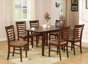 Milan 5 PC Rectangular Dinette Dining Table Set 36x 54 With 12extension Leaf