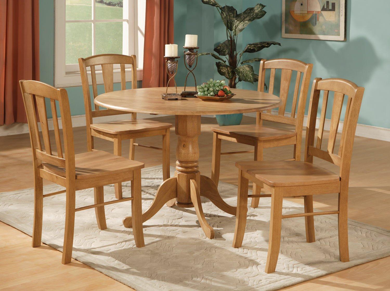 """5-Piece Dublin dinette kitchen 42"""" diameter round table ..."""
