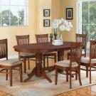 """7-PC Vancouver Oval  Dining Room Table Set-17"""" extension leaf in Oak.  SKU:  V7-ESP-C"""