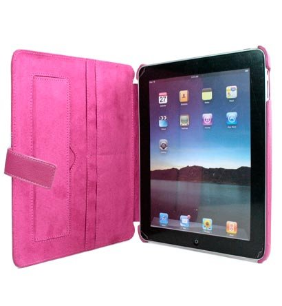 Kroo Couture Case w/ Kick Stand for Apple iPad (Color: MAGENTA/12026)