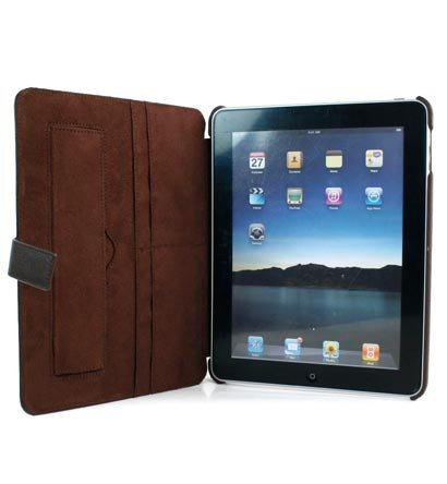 Kroo Couture Case w/ Kick Stand for Apple iPad (Color: BROWN/12027)