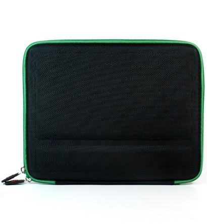 """Kroo Cube Hard Eva Case fits up to 9"""" Tablets (Color: GREEN/11927)"""
