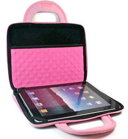 "Kroo Dice Case with Cushions fits up to 9"" Tablets (Color: PINK/11987)"