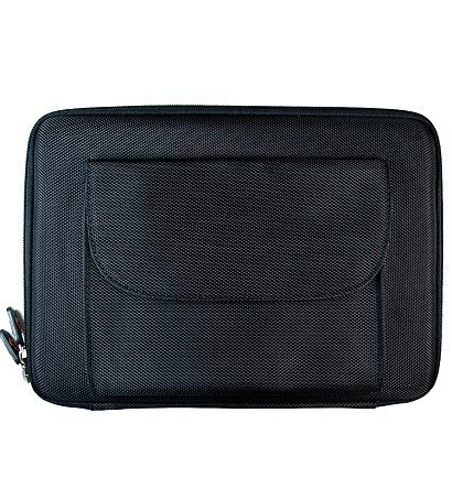 Kroo Nylon CUBE Case with Front Pocket for Apple iPad (Color: BLACK/11635)