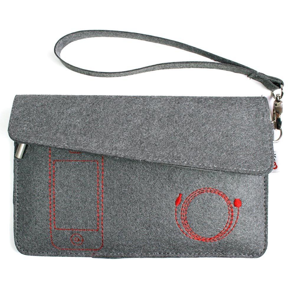 """Kroo Eco-Friendly FELT Wrapper Case fits up to 7"""" eReader (Color: GREY/12103)"""