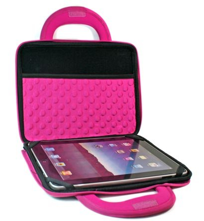 "Kroo Dice Case with Cushions fits up to 9"" Tablets (Color: MAGENTA/11986)"
