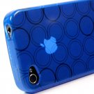 Kroo Flex Circle Case fits Apple iPhone 4 (Color: BLUE/11960)