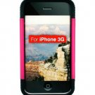 Kroo Fuze Case fits Apple iPhone 3G (Color: MAGENTA-BLACK/11329)