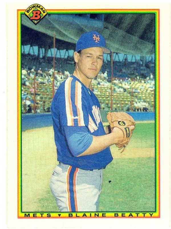 1990 Bowman Blaine Beaty Rookie Card