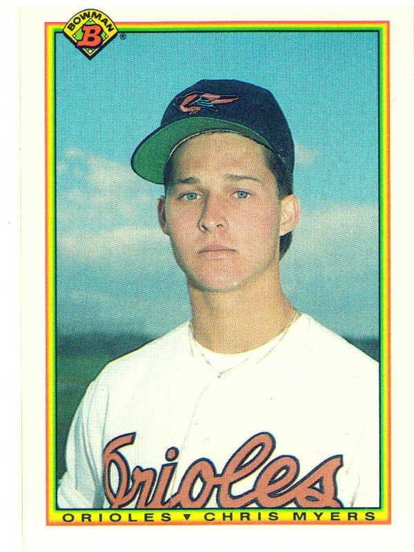 1990 Bowman Chris Myers Rookie Card