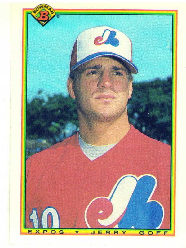 1990 Bowman Jerry Goff Rookie Card