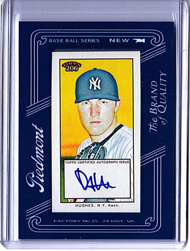 2009 Topps 206 Phil Hughes Autograph card