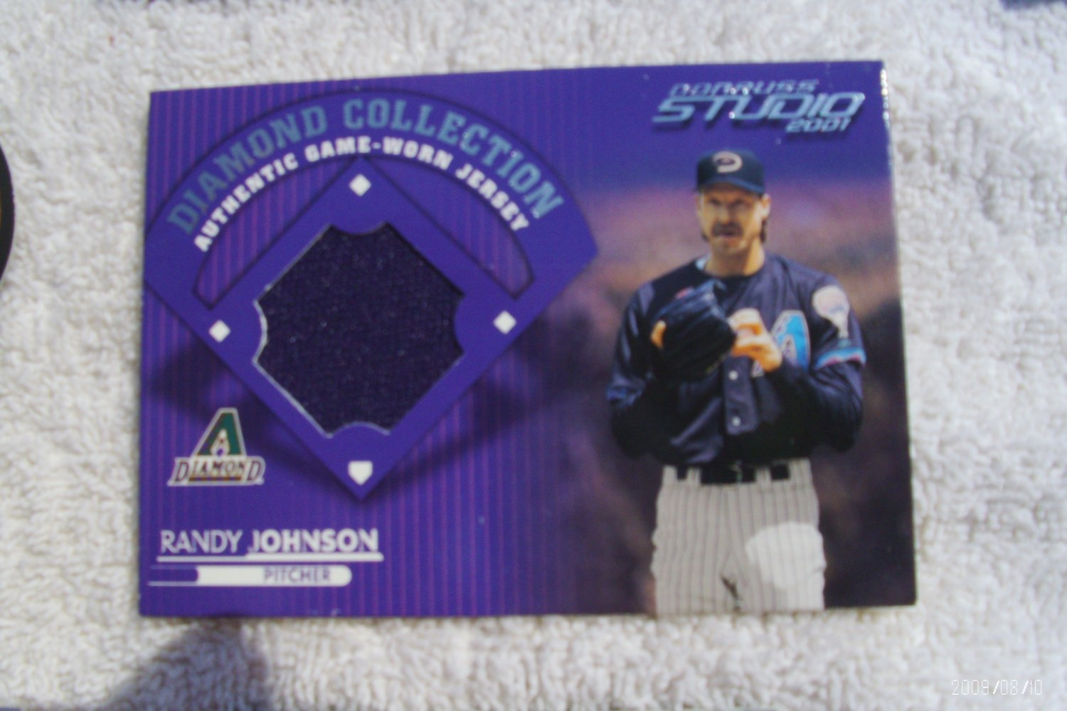 "2001 Donruss Studio ""Diamond Collection"" Randy Johnson Jersey"