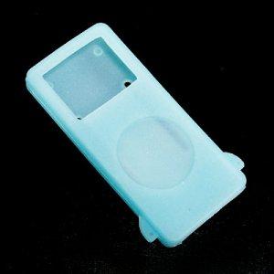 I-pod iPod Nano Glow in Dark Silicone Skin Case Blue Apple