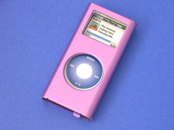 iPod Nano2 Aluminium Case for 2006 2nd Gen Skin Apple (Purple)