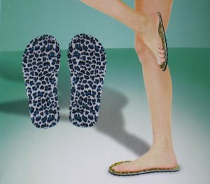 2 Pairs of Beach Sandal Topless Strapless Flip-flop Slippers