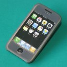 iPhone Silicone Case  Skin (Grey Black)