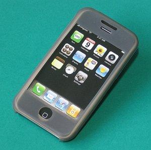 iPhone Silicone Case  Skin (Grey Black)
