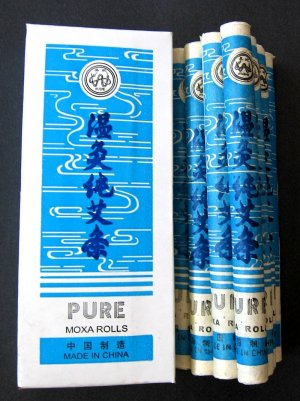 Acupuncture Pure Moxa Rolls 10Pcs Chun Ai Tiao
