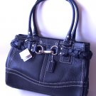 Coach Handbag Purses Hamtons Pebbled Leather Carryall Handbag F13084 - Black NWT