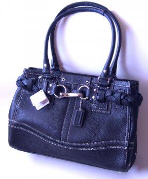 Coach Handbag Purses Hamtons Pebbled Leather Carryall Handbag F13084 - Black NWT
