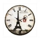 Eiffel Tower Wall Clock NEW  **SEE NOTE**