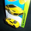 Hot Wheels 2015 Lamborghini Huracan LP 610-4 Yellow HW Workshop Garage 222/250