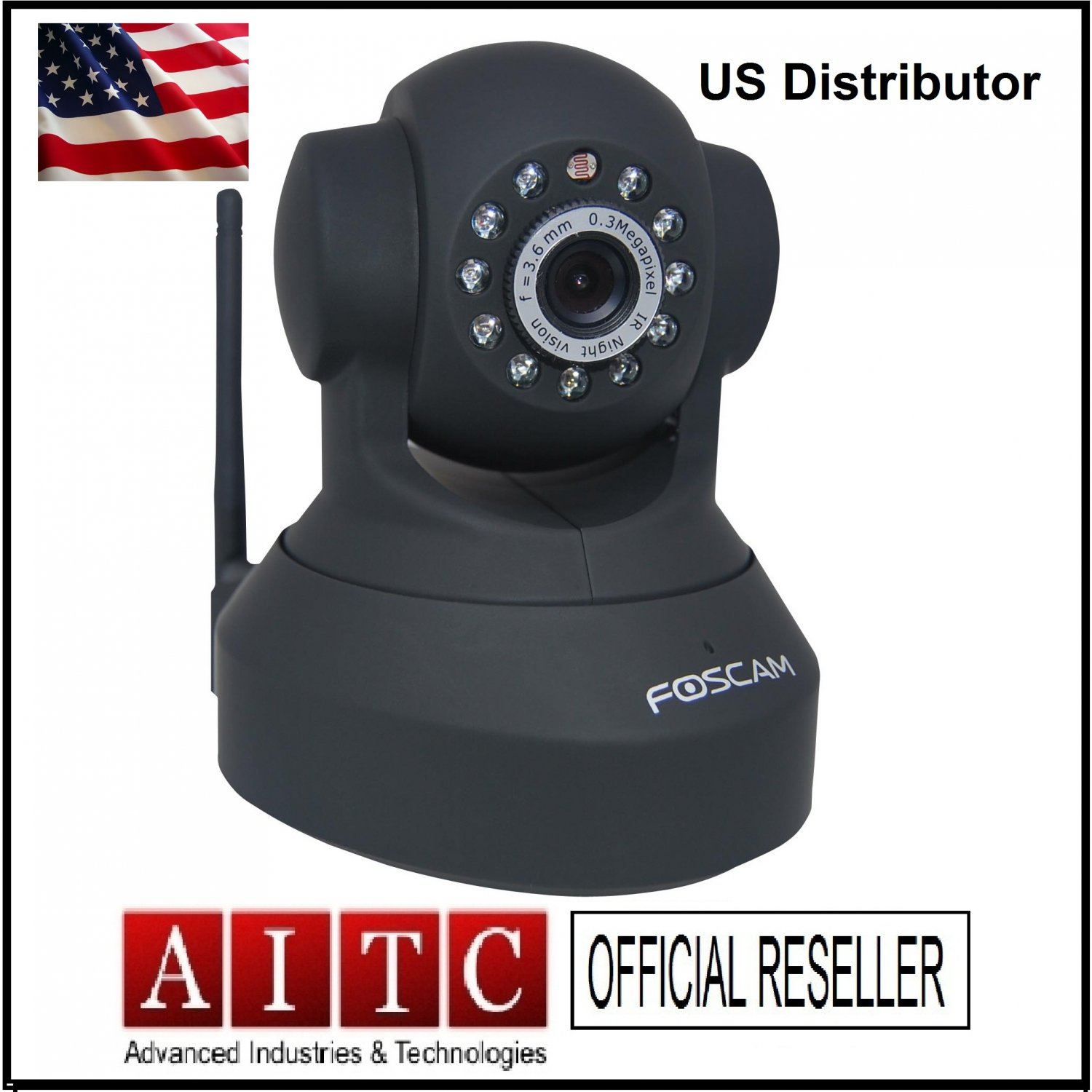 Foscam FI8918W-Wireless IP Camera-1XBlack
