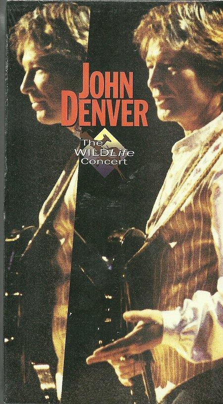 JOHN DENVER (VHS) THE WILDLIFE CONCERT Live Video Hits MINT