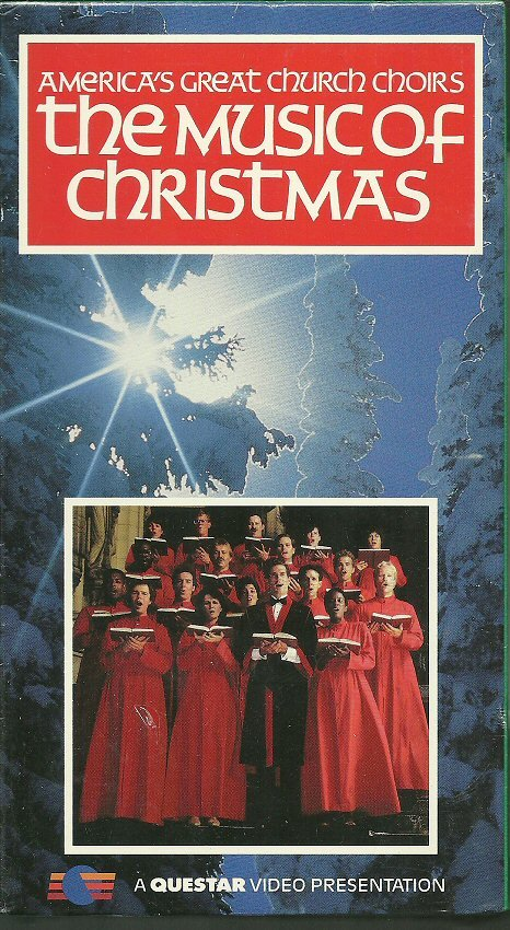 AMERICA'S GREAT CHURCH CHOIRS (VHS) THE MUSIC OF CHRISTMAS Xmas Holiday Carols Music