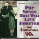 POP SONGS THAT WILL LIVE FOREVER (4 CD) Reader's Digest Music The Sentimental '40s