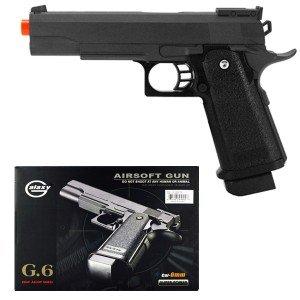 G6 Airsoft Spring Pistol Colt 1911 Metal Gun FPS 340 M9