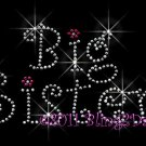 Big Sister Rhinestone Iron on Transfer Hot Fix Bling Mom Kids - DIY