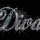 Diva Letters Rhinestone Iron on Transfer Hot Fix Bling - DIY