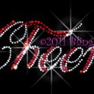 Red Cheer Letter Rhinestone Iron on Transfer Hot Fix Bling - DIY
