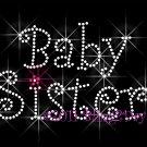 Baby Sister Rhinestone Iron on Transfer Hot Fix Bling Mom Kids - DIY