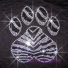 (L) Zebra Black & White Paw Print Rhinestone Iron on Transfer Hot Fix Bling Mascot Mom - DIY
