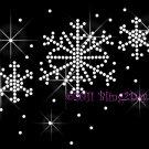 Winter Snowflake Rhinestone Iron on Transfer Hot Fix Bling White Christmas - DIY